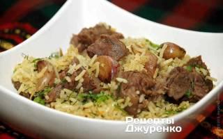 Как приготовить рис с мясом