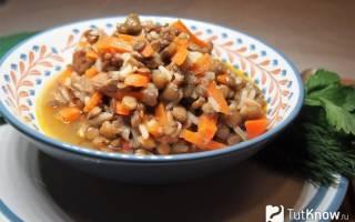 Как приготовить чечевицу с мясом
