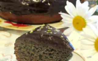 Черничный пирог в мультиварке