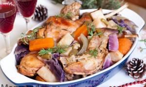 Как приготовить кролика с овощами